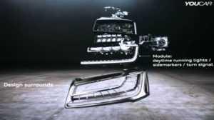 Матричные фары Audi