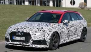«Горячий» универсал Audi RS4 Avant подловили на испытаниях