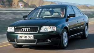 Автомобиль Ауди А6 С5 в кузове седан после рестайлинга