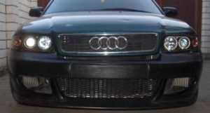 Тюнингованные фары Audi A6