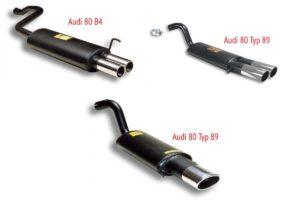 Модели спортивных глушителей Supersprint для тюнинга Ауди 80