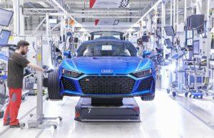 Сборка Audi R8 2019 на конвейере