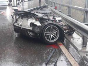 В Италии Audi R8 попал в ДТП