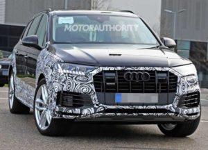 Шпионские снимки Audi Q7 2021