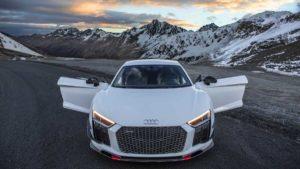 Audi R8 V10 Plus в Альпах