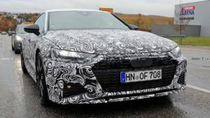 Появились новые шпионские фотографии Audi RS7 Sportback