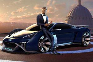 Концепт Audi RSQ e-tron снимут в кино
