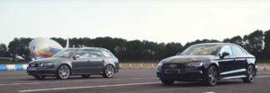 Универсал Audi RS4 и седан S3 померились силами