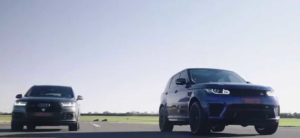 Гонки Audi SQ7, Range Rover Sport SVR и Mercedes-AMG G63