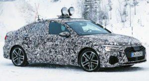 Фотошпионы сфотографировали будущий Audi S3 на тестировании