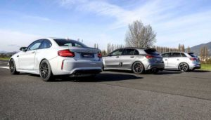 BMW M2 Competition, Audi RS3 и Mercedes-AMG A45 S. Кто быстрее?