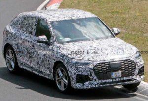 Появились фотографии Audi Q5 Sportback 2021 на испытаниях в Нюрбургринге